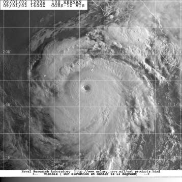 Figure 5. GOES-10  Image of Hurricane Hernan