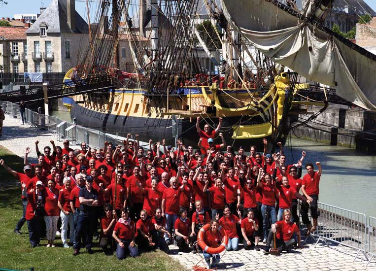 The crew of the Hermione