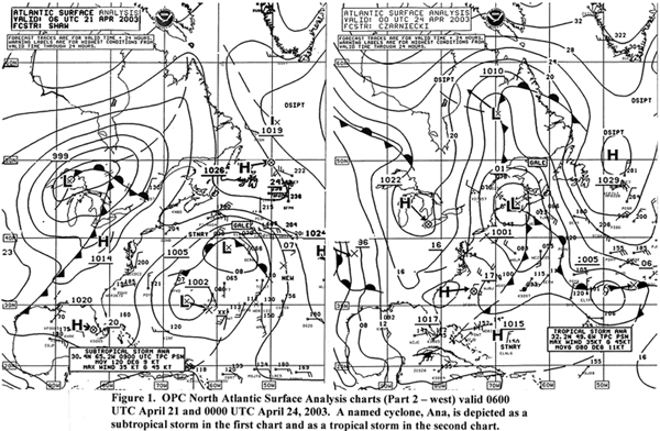 Figure 1 - North Atlantic Surface Analysis Chart