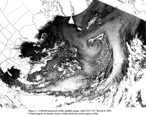 Figure 7 -  GOES8 Satellite Image - Click to Enlarge