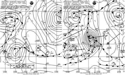 Figure 2 - North Pacific Surface Analysis  Chart