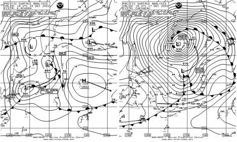 Figure 7 - North Pacific Surface Analysis Chart