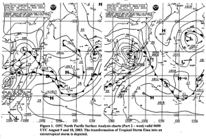 Figure 1 - North Pacific Surface Analysis Chart - Click to Enlarge