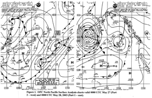 Figure 2 - North Pacific Surface Analysis Chart - Click to Enlarge